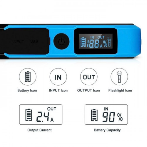 booster batterie suaok 800A lcd