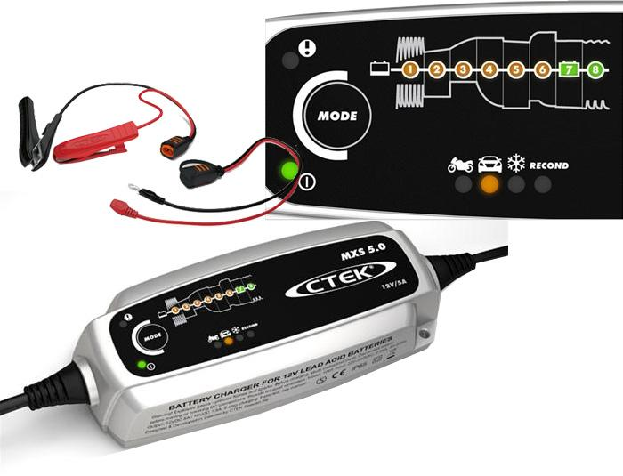 interface chargeur batterie automatique CTEK MXS 5.0