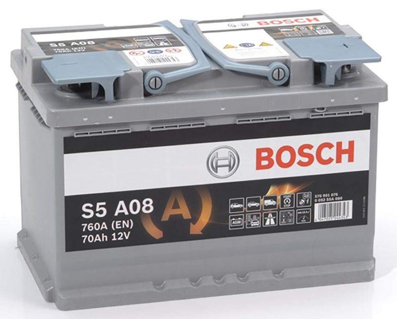 Batterie AGM Bosch S5A08 en Promo -45%