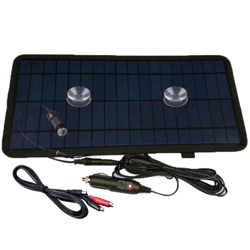 Nuzamas Chargeur batterie panneau solaire