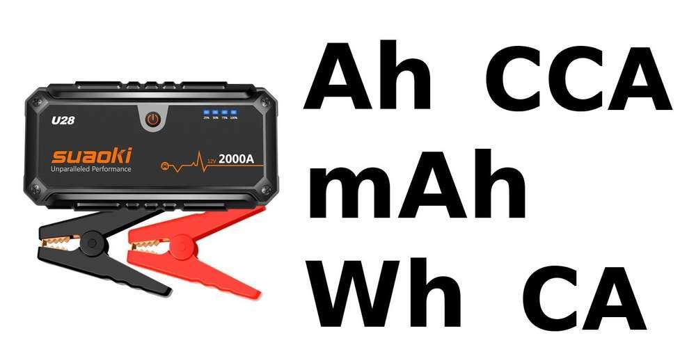 intensite booster batterie CA CCA mAh