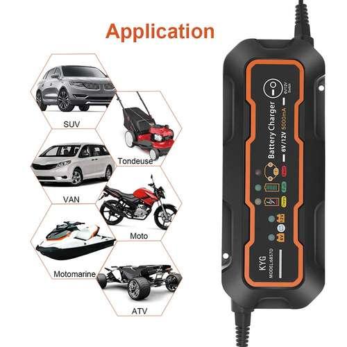 KYG Chargeur Batterie voiture 6-12V 5A en Promo -37%